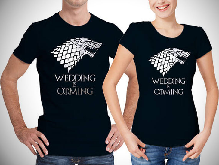 Wedding Announcement Matching Game Of Thrones T-Shirts