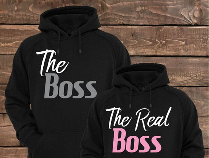 Who's Boss Couples Sweaters