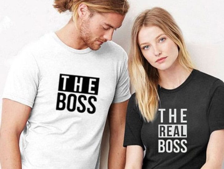 Who's Boss Couples T-Shirts