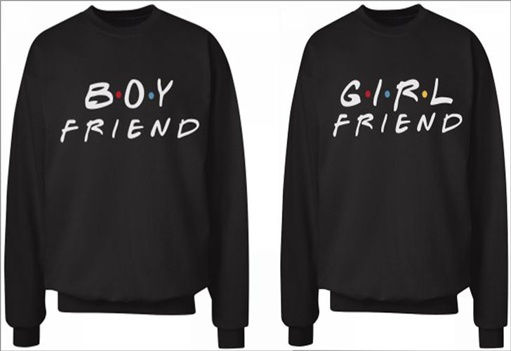 Friends Theme Boy Friend Girl Friend Sweaters