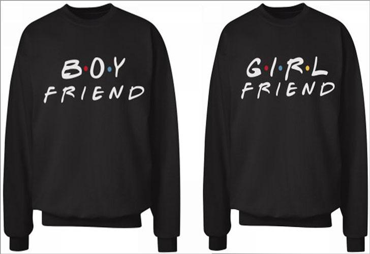 Friends Theme Boy Friend Girl Friend Sweaters