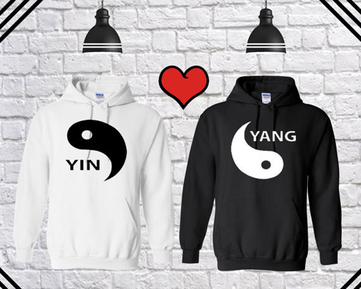 Yin Yang Matching Couples Hoodies