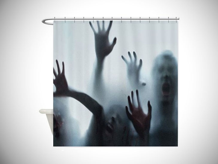 Zombie Halloween Shower Curtain