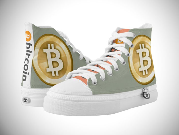 Bitcoin Chucks Hightop Sneakers