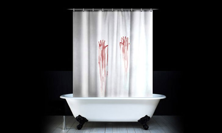 Bloody Handprint Shower Curtain - Funny shower curtain