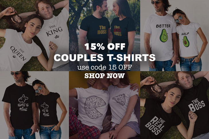 bold couples t shirts