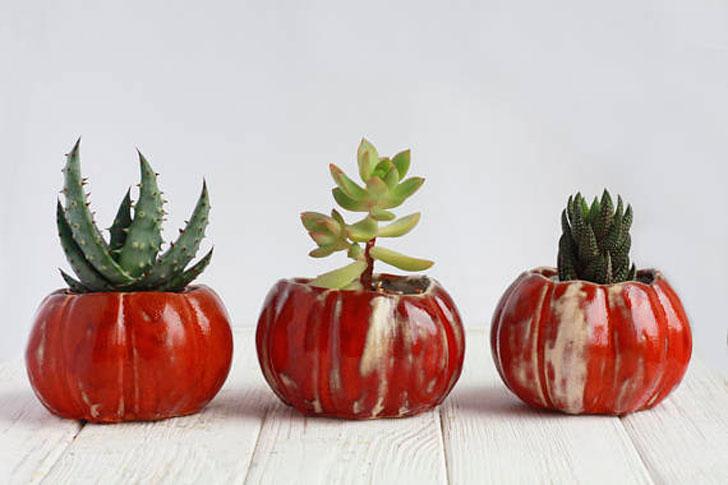 Pumpkin Ceramic Pots