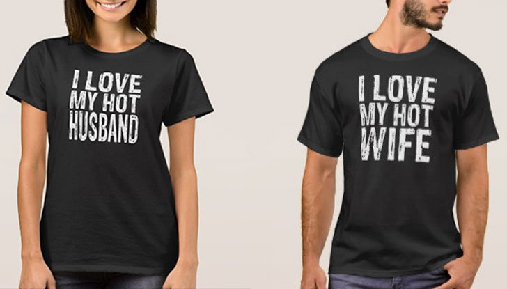 I love My Hot Wife - I'm The Hot Wife couples T-Shirts