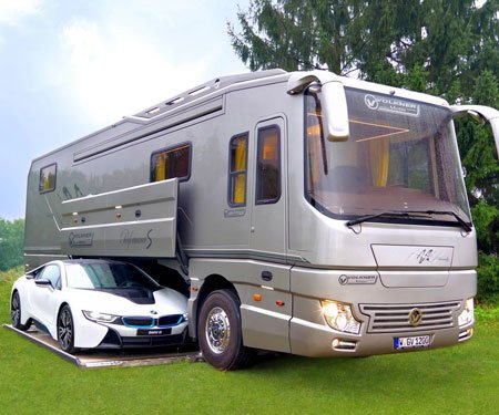 Car-Carrying Luxury Mobile Home