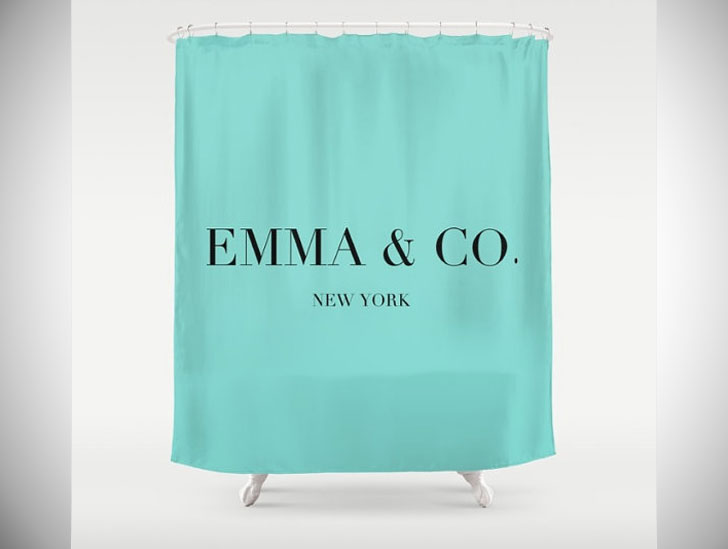 personalized Tiffany & Co. Shower Curtains