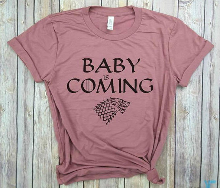 3e59e3923c9a2 #30 Baby is Coming Game of Thrones Pregnancy Announcement Shirts