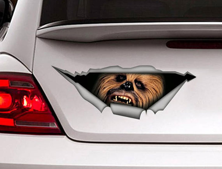 Chewbacca Car Decals