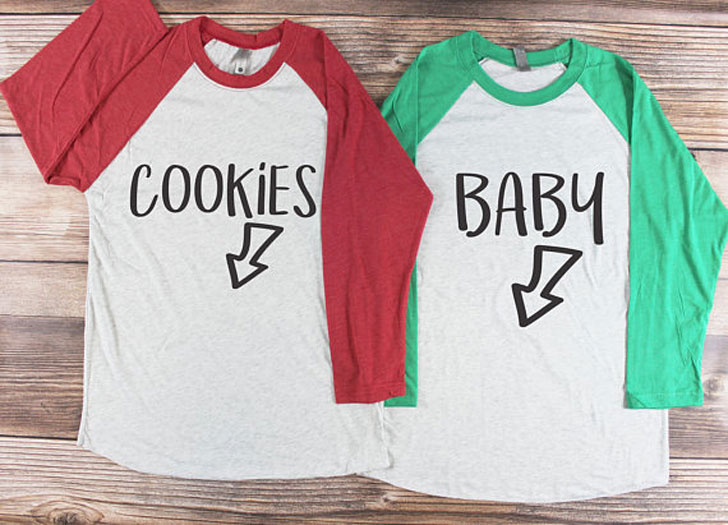 Couples Christmas Pregnancy Announcement Shirts