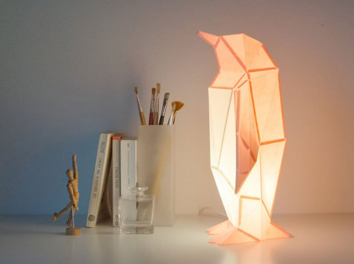 DIY Paper Penguin Lamps