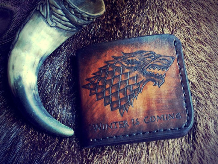 Game of Thrones Stark Wolf Handmade Leather Wallet - Cool Wallets