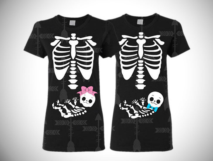 Gender Reveal Halloween T-Shirts - Pregnancy Announcement Shirts