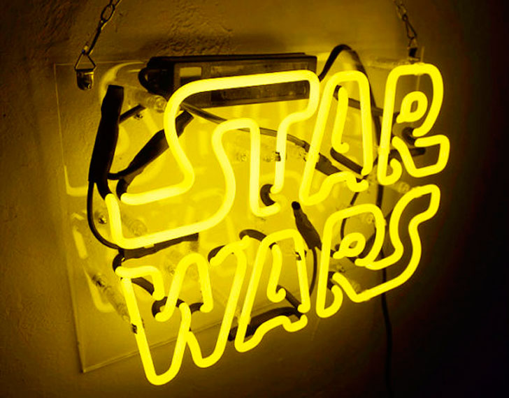 Handmade 'Star Wars' Movie Art Light