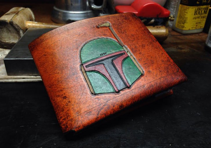 Leather Boba Fett Star Wars Wallet
