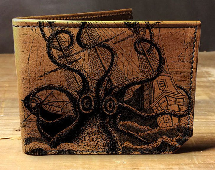 Leather Octopus Attacks Wallet