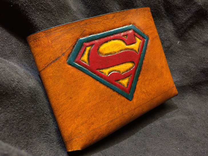 Leather Superman Wallet - Cool Wallets