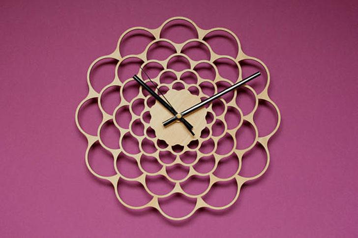 Mid Century Sunburst Wall Clock