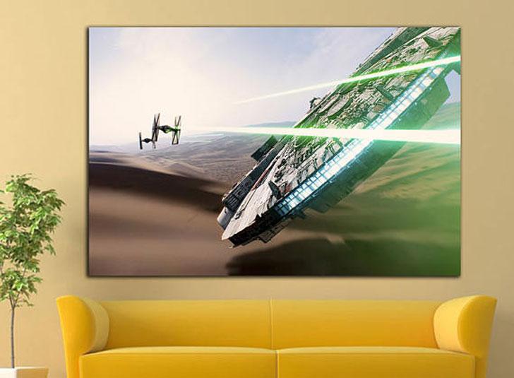 Millenium Falcon Star Wars Wall Art Canvas