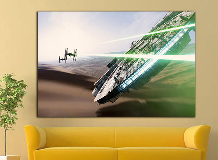 Millenium Falcon Star Wars Wall Art Canvas