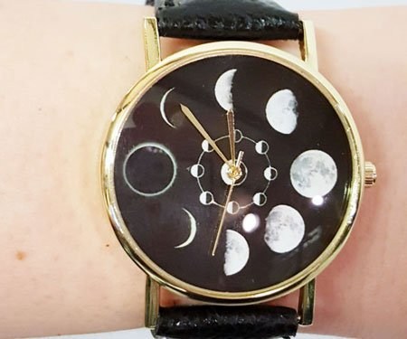 Moon Phases Celestial Wrist Watch