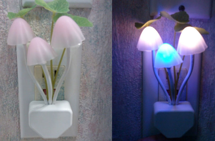 Multi-Coloured Mushroom Nightlight