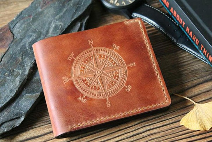 Personalised Leather Compass Wallet - Cool Wallets