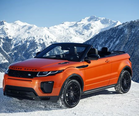Phoenix Orange Convertible Range Rover