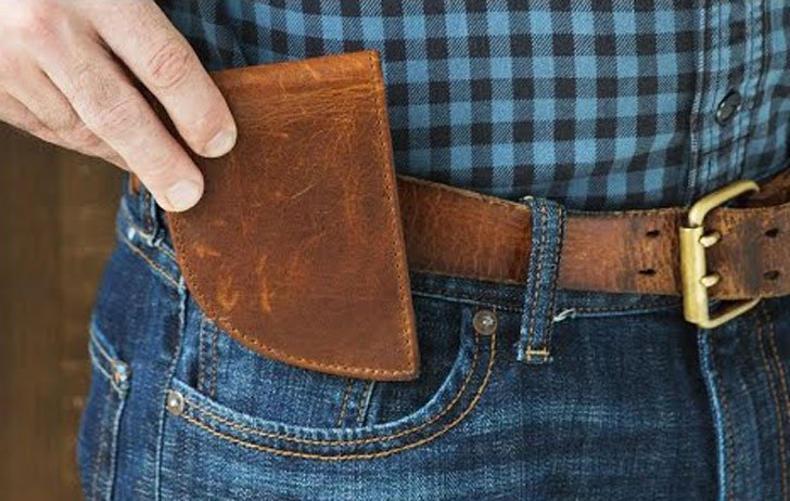Rogue Industries Moose Leather Front Pocket Wallet