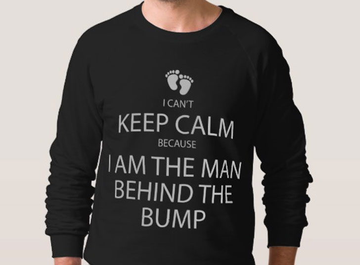 I Am the Man behind the Bump Sweatshirt