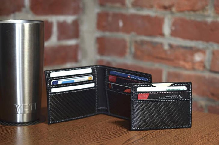Slim Carbon Fiber and Full Grain Leather RFID Blocking Wallets