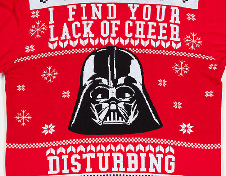 Star Wars Darth Vader Lack of Cheer Holiday Sweaters