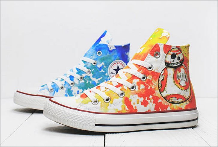 Star Wars R2D2 Droids Custom Converse Sneaker Shoes