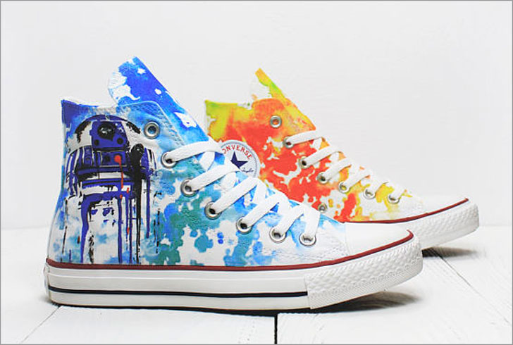 Star Wars R2D2 Droids Custom Converse Sneaker Shoes