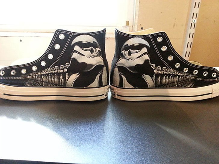 Star Wars Storm Troopers Custom Converse All Stars