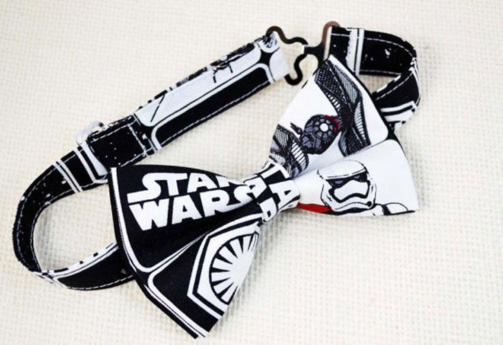 Star wars bow tie and Black Suspender Set