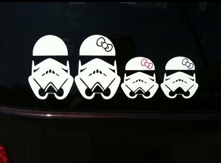 Stormtrooper Family Car Stickers