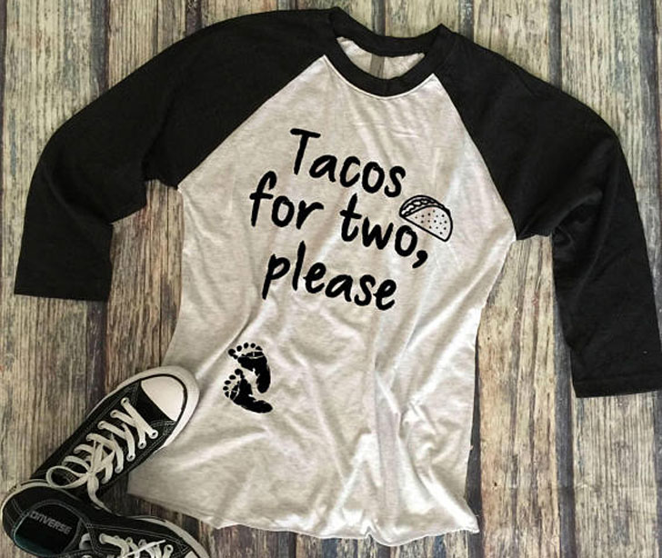 Tacos For Two Please Pregnancy Announcement Shirt