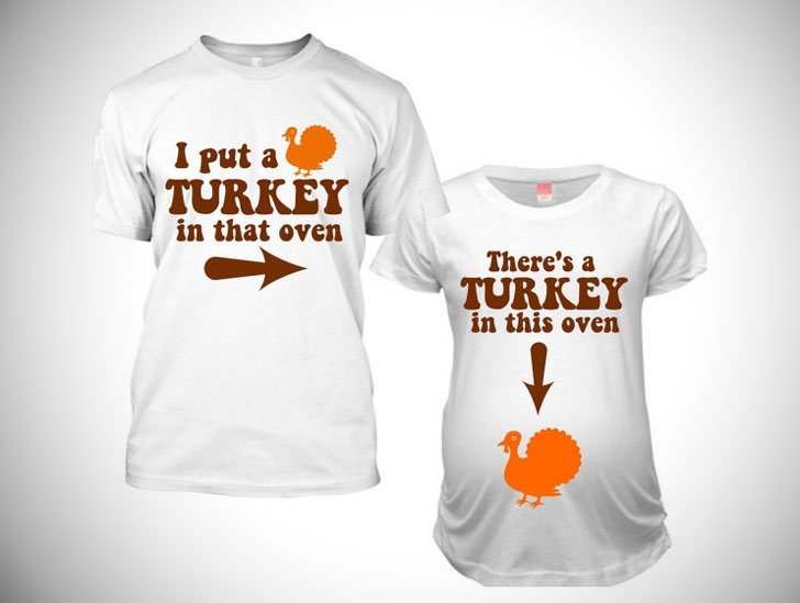 Thanksgiving Pregnancy Announcement Shirts