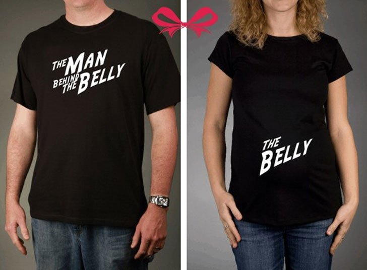 The Belly and The Man Behind the Belly Maternity T-shirts