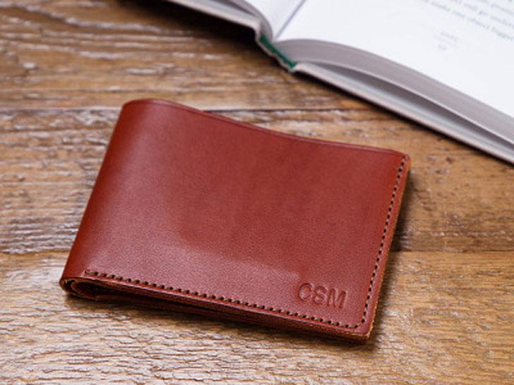 Todder Monogrammed Leather Bi-Fold Wallet