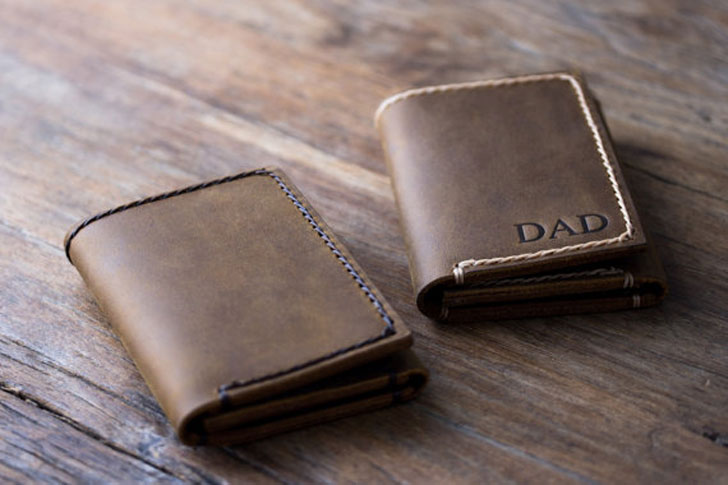 Trifold Personalised Leather Wallet