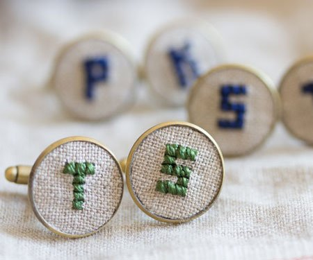 Vintage Styled Personalised Cufflinks