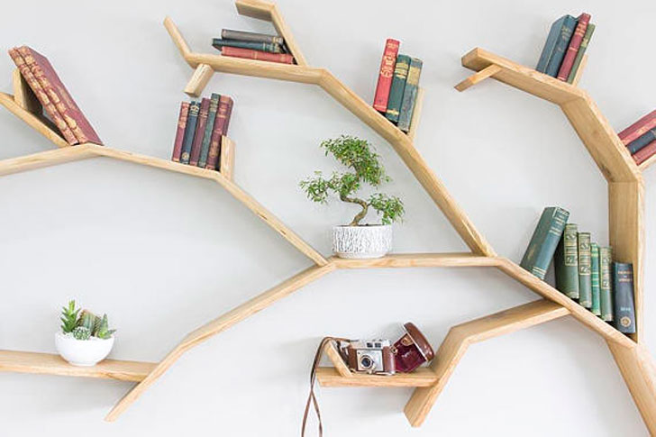 Windswept Oak Tree Bookshelf Awesome Stuff 365