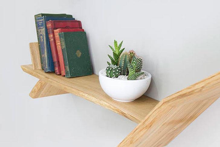 Windswept Oak Tree Bookshelf