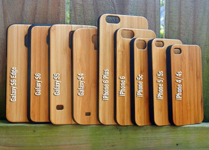 Wooden Mandalorian Phone Cases