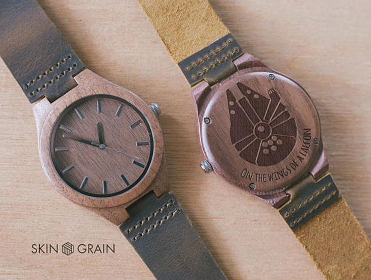 Wooden Millennium Falcon Watch